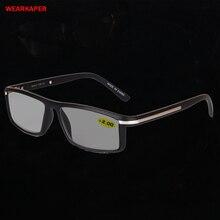 WEARKAPER geçiş fotokromik okuma gözlüğü erkekler kadınlar presbiyopi gözlük güneş gözlüğü renk değişikliği ile diopters 1.0 4.0