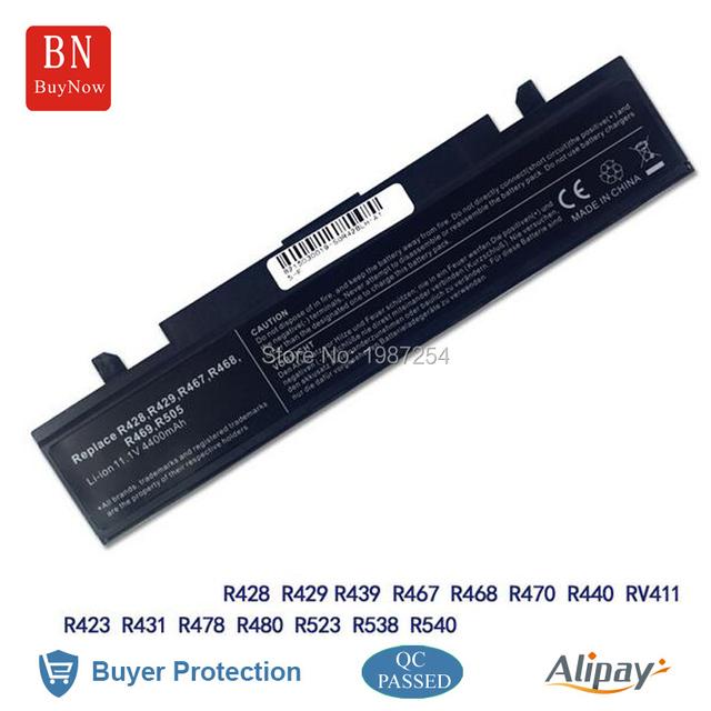 Nuevas células 6 4400 mah batería del ordenador portátil para Samsung R428 R467 AA-PB9NC6B RV515 Q530 batería