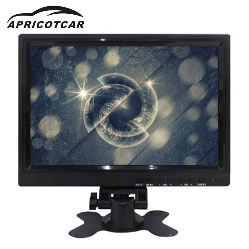 APRICOTCAR 10.1 pouce De Voiture LCD HD Moniteur VGA/AV/HDMI Interface pour Une Variété de Modèles Résolution 640*480 Inverser Priorité