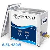 Промышленный ультразвуковой очистки 6L цифровой Отопление Управление 180 Вт Нержавеющаясталь Ванна ультразвуковая стиральная тату для ног