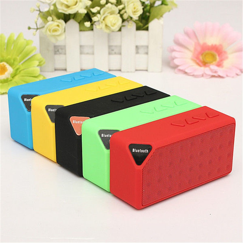 New Portable Mini Bluetooth Speaker Wireless Music Sound Box Subwoofer Loudspeakers with Mic for phone support TF USB FM Radio in Portable Speakers from Consumer Electronics