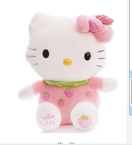 NEW STuffed animal pink fruit strawberry kt hello kitty  about 45cm plush toy 18  inch soft Toy birthday gift wt29 юбка strawberry witch lolita sk