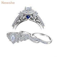 Женское кольцо из серебра 925 пробы, с фианитом 1,4 карата