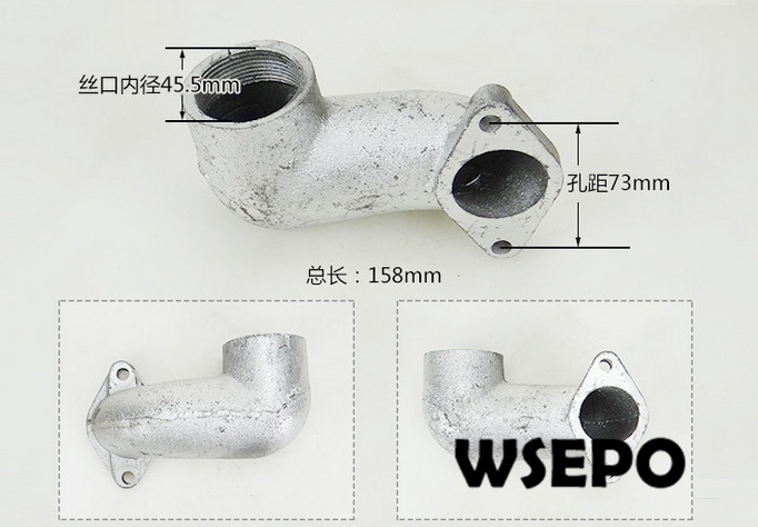 OEM Quality&Factory Direct Supply! Muffler Exhaust Connecting Pipe for S195/ZS1100 4 Stroke Small Water Cooled Diesel EngineOEM Quality&Factory Direct Supply! Muffler Exhaust Connecting Pipe for S195/ZS1100 4 Stroke Small Water Cooled Diesel Engine