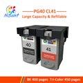 Чернильный картридж Hisaint  1 комплект  чернильный картридж для Canon PG40 CL41  для PIXMA IP2500  IP2600  MX300  MP160  MP140  MP150  струйный принтер PG-40