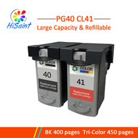 Hisaint 1 Set PG 40 CL 41 Ink Cartridge for Canon PG40 CL41 for PIXMA IP2500 IP2600 MX300 MP160 MP140 MP150 Ink Jet Printer