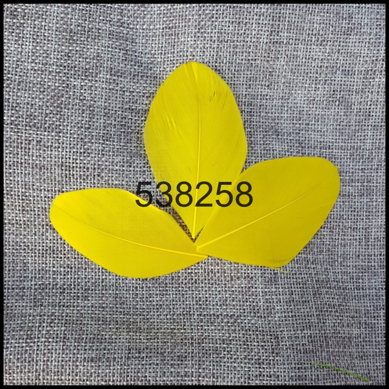 Bulk Wholesale 100pcs/lot 3~7cm High Quality Real Natural gold yellow Goose Trimmed Feathers for Costumes Cosplay Decoration