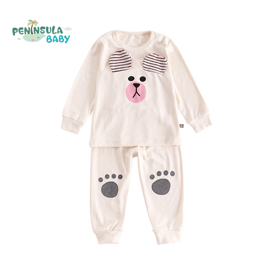 Baby Girls Clothing Set Cartoon Baby Boys Outfits For Babies Pajamas Sets 2pcs Kids Infant Children Clothes Tracksuit Suit lavla2016 new spring autumn baby boy clothing set boys sports suit set children outfits girls tracksuit kids causal 2pcs clothes