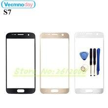 Vecmnoday Para Samsung Galaxy S7 G9300 Frente Exterior Lente de Cristal de la Pantalla Táctil de Reparación de Piezas de Reemplazo de Cristal Frontal de la Pantalla Táctil + herramientas