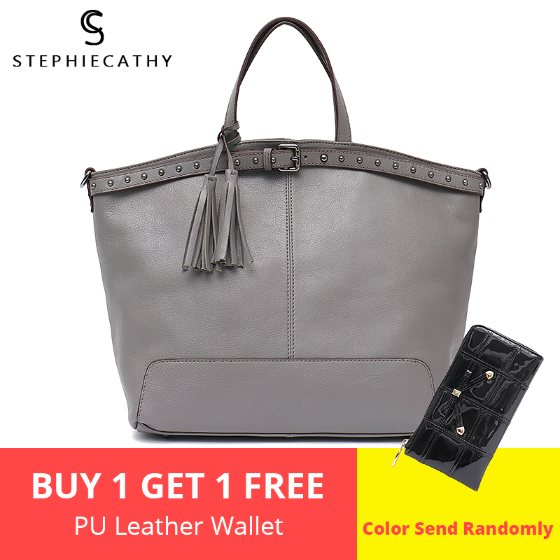 SC Real Leather Top handle bags Brand Female Shoulder bag Large Fashion Tote Cowhide Ladies handbags