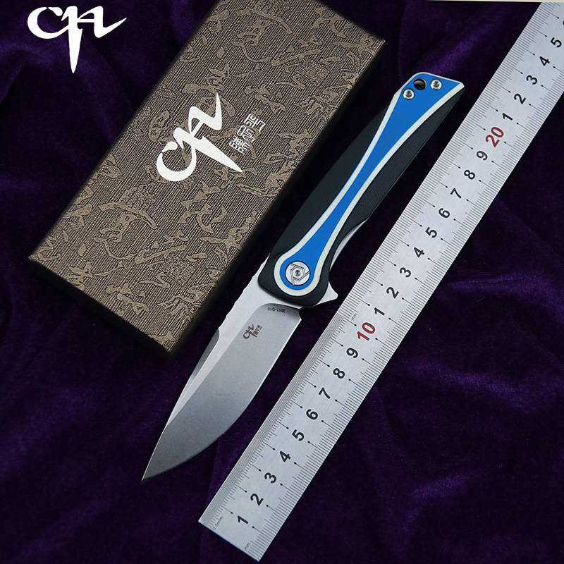 CH CH3511 G10 Flipper folding knife D2 Blade ball bearings G10 Stainess steel handle camping fruit