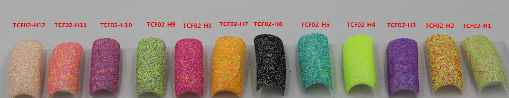 TCFM-02 12 Mixture of  neon candy colors glitter  melange sequins paillette for nail decoration and other art DIY decora