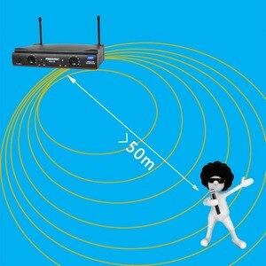 Image 2 - Freeboss KU 22 50M Werkbereik Dual Channel 2 Handheld Mic Zender Professionele Karaoke Uhf Draadloze Microfoon Systeem