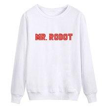 Mr Roboter Fsociety Sweatshirt Männer Hip Hop Übergroße Pullover Männer 2016 Schwarz Weiß Grau