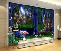 Photo 3d Wallpape Forest Castle Fairytale Kingdom Castle Fantasy TV Tooling Background Wall Mural Wallpaper 3d Wall paper