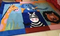 Washable rug ,Australia acrylic material ,custom for different size ,Children carpets,skid resistance mat ,animals on carpet.