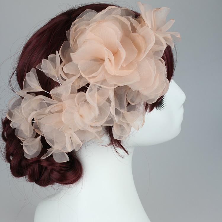 ᗚhair Flower Wreath Wedding Headband Women Hair Clip Bridal