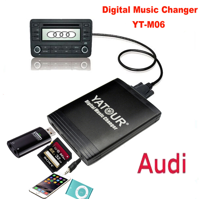 Yatour Digital Music Changer Usb Sd Aux Mp3 Adaptor For