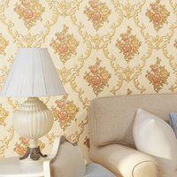 European Rustic Floral 3D Wallpaper For Living Room Background Damask Wall Papers Home Decor Non Woven