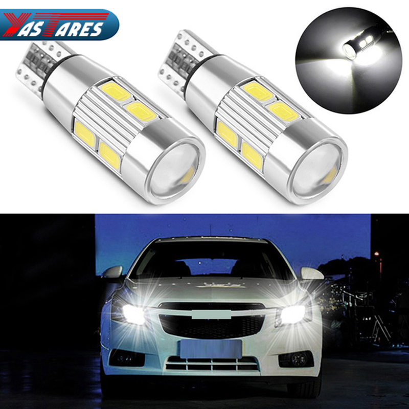 Car Auto LED T10 194 W5W Canbus 10 SMD 5630 5730 LED Light Bulb No error led parking Fog light Auto No Error univera car light