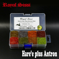 Hot 8 Colors Dispenser Hare S Ear Dubbing Plus Antron Dub Buggy Nymph Dub Fly Fishing
