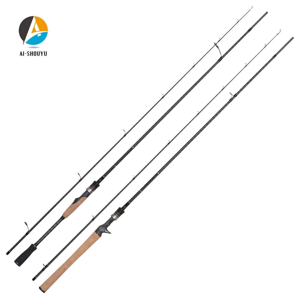 AI SHOUYU Cross Carbon Fiber Lure Fishing Rod ML M MH Power Full Fuji Parts Fishing