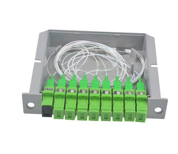 SCAPC PLC 1X8  splitter Fiber Optical Box FTTH PLC Splitter box  with 1X8 Planar waveguide type Optical splitter Free shipping