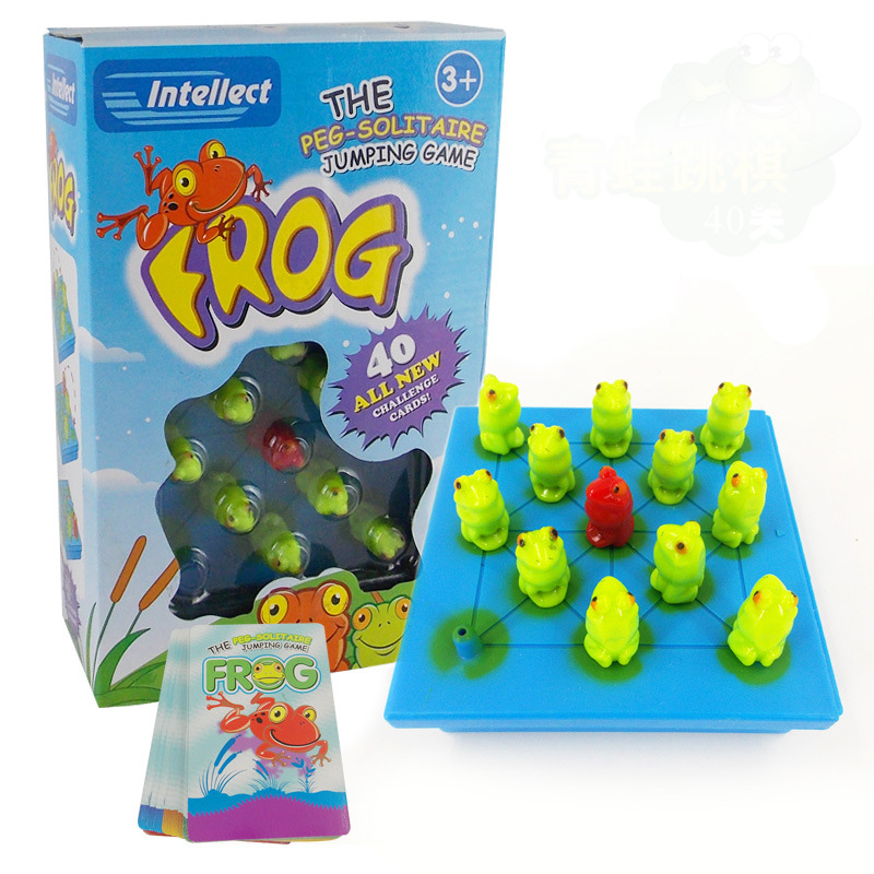 Frog Puzzle Board Game Family/Party/Friends 3-7 Years Old Jumping Game Best Gift for Children Funny Intellect