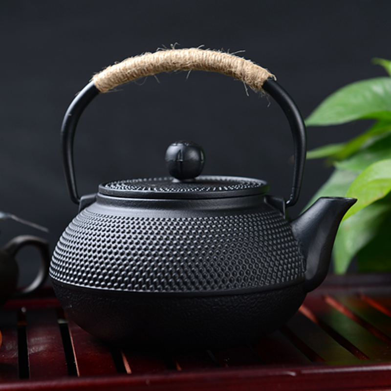 HOT-Southern Cast iron kettle old iron pot shells tea pots health boiler scale iron pot 800ml