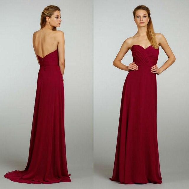 594e95f7cc 2013 amor caliente vino tinto longitud del piso alto de la cintura plisado  partido vestido de