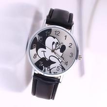 Women's fashion watches quartz watches luxury children  Mickey Mouse watch PU watch strap women clock relogio feminino