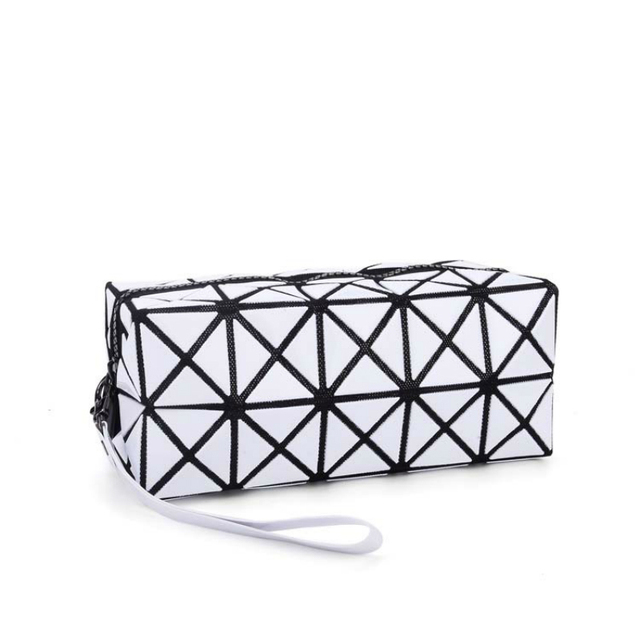 Fashion geometric stitching rhombus diamond lattice folding clutch japan  style woman triangle splicing square mosaic women bag 30ff1ac2db335
