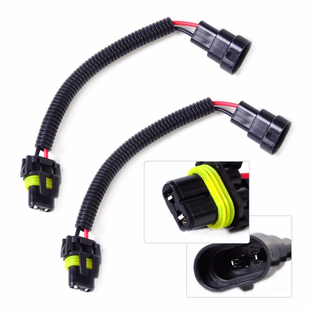 dwcx 2x car pvc plastic nylon extension adapter wiring harness socket wire connector for hb4 9006 9012 headlight fog light lamp in cables  [ 1000 x 1000 Pixel ]