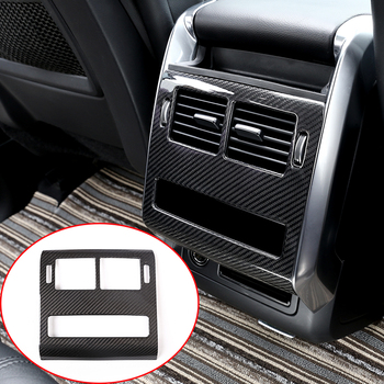 Rear Row AC Outlet Frame Cover Trim Real Carbon Fiber For Land Rover Range Rover Sport RR Sport 2014-2017 Car Accessories