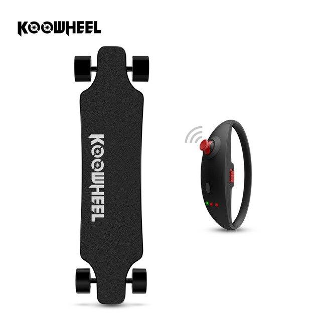 Skate Recentes Koowheel D3M + Hoverboard Skate Elétrico 4 rodas Elétrica com Remoto Atualizado e Motor Do Cubo Livre de impostos