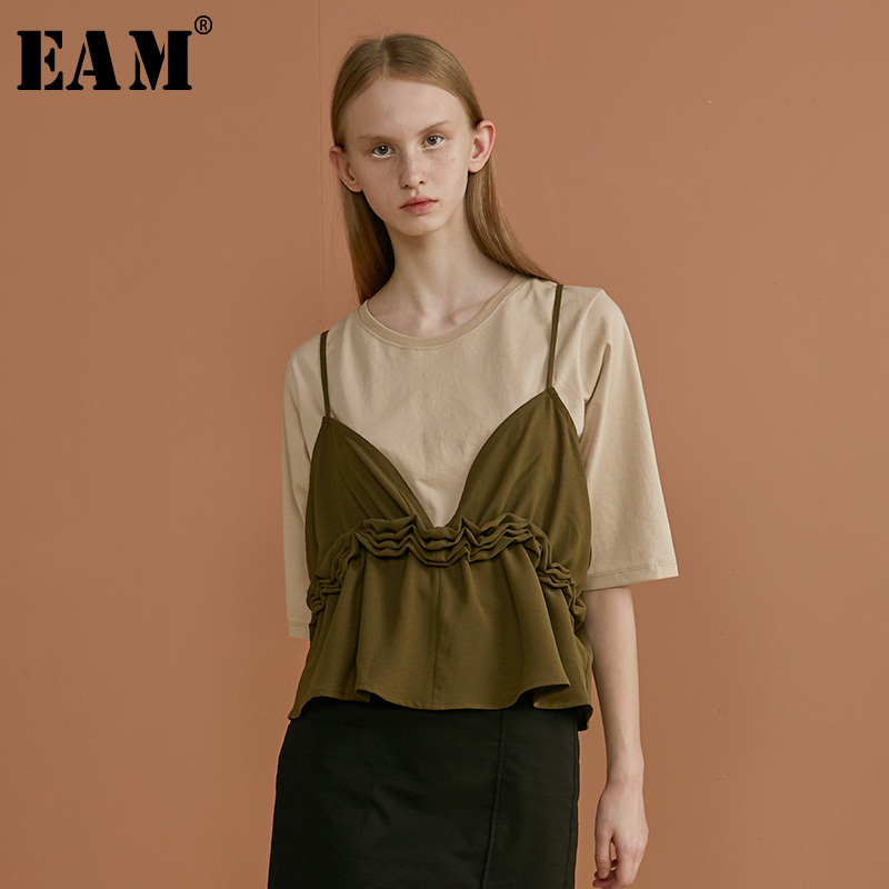 [EAM] 2019 New Spring Summer Strapless White Jacquard Temperament Elegant Personality Tank Tops Women Fashion Tide JU568