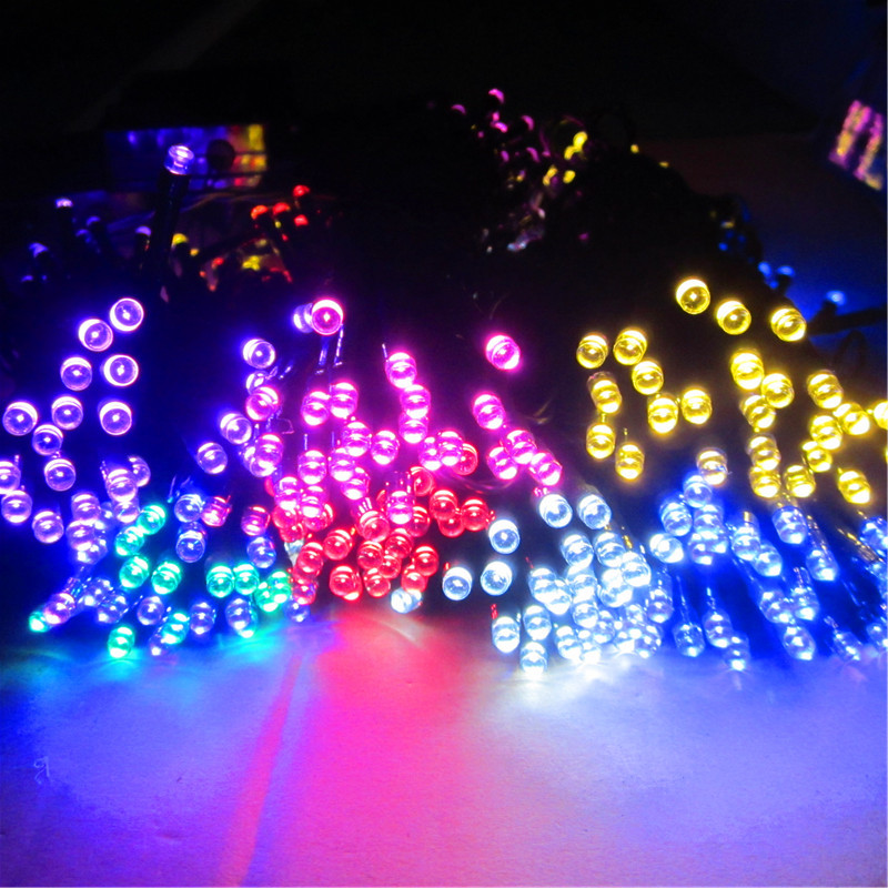 ФОТО 50m 500 LED Solar Light Outdoor Lampada Solar Lamp Garden Lights Waterproof Lampe Solaire Christmas Fairy Decoration Lights