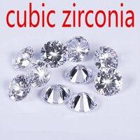 Wholesale Jewelry Supplies AAA Grade CZ Cubic Zirconia Round Zircon 13 0MM DIY Jewelry Findings Supplies