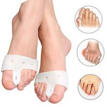 цены 1pair=2pcs Hallux Valgus Bunion Corrector Forefoot Pads Bone Thumb Orthopedic Brace Silicone Big Toe Separator Orthopedic Mats