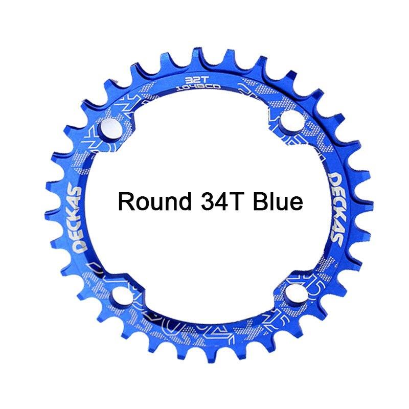 Bike Crank 104BCD Narrow Wide Crankset Single Plate 32T34T36T38T MTB Chainring Bicycle Chainwheel Bike Circle Round Shape (14)