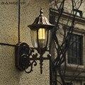 Европейский наружный светодиодный настенный светильник E27 ретро водонепроницаемый ржавчина настенное освещение настенное бра лампа сад б...