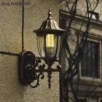 Europa ao ar livre conduziu a luz de parede e27 retro à prova dretro água ferrugem varanda luzes arandela lâmpada jardim iluminação alumínio bronze|Luminárias de parede externas| |  -