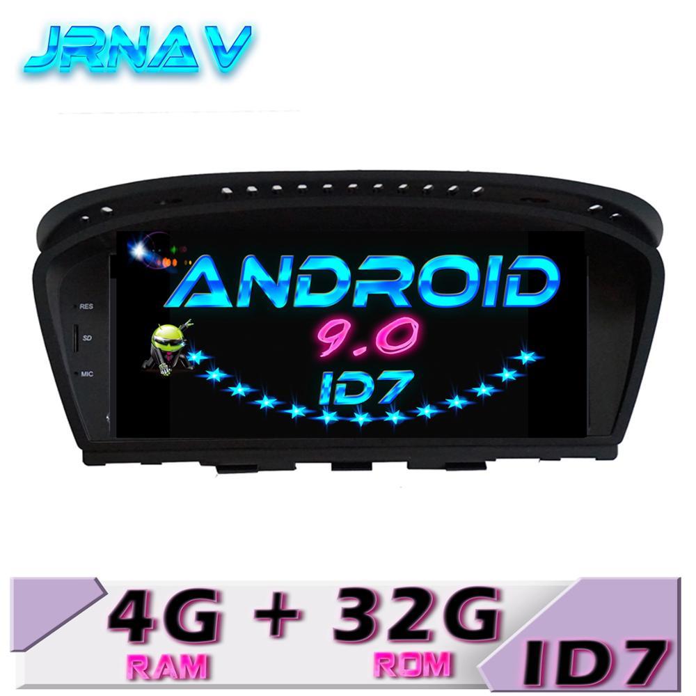 Lecteur DVD de voiture ID7Android 9.0 pour bmw série 5 E60 E61 E63 E64 série 3 E90 E91 E92 CIC/CCC moniteur de voiture stéréo écran ips