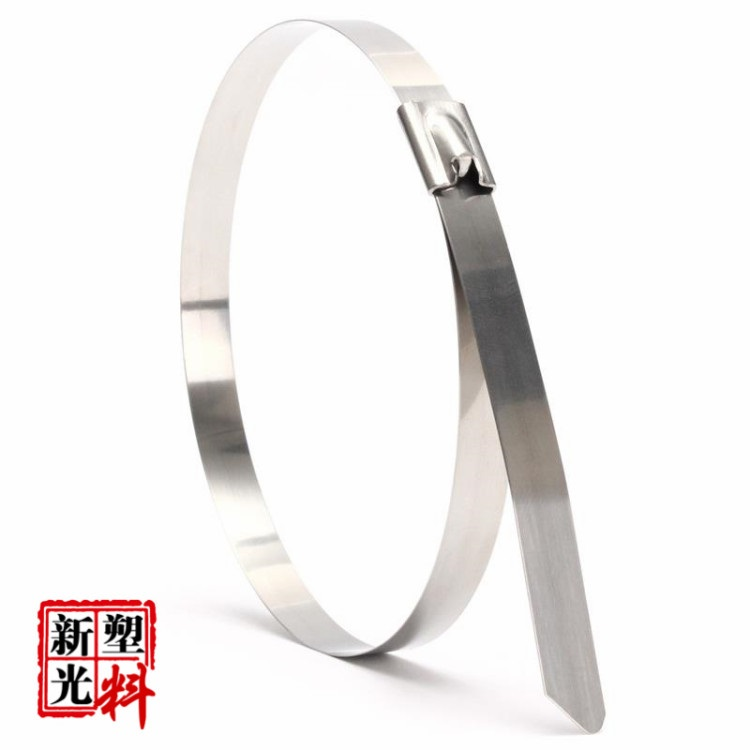 XINGO Size: 4.6*100mm-600mm  Thickness 0.25mm Stainless Steel Metal Cable Ties 10Pcs/Lot for 201 Texture Free shiping 10pcs stainless steel metal cable ties tie zip wrap exhaust heat straps induction pipe