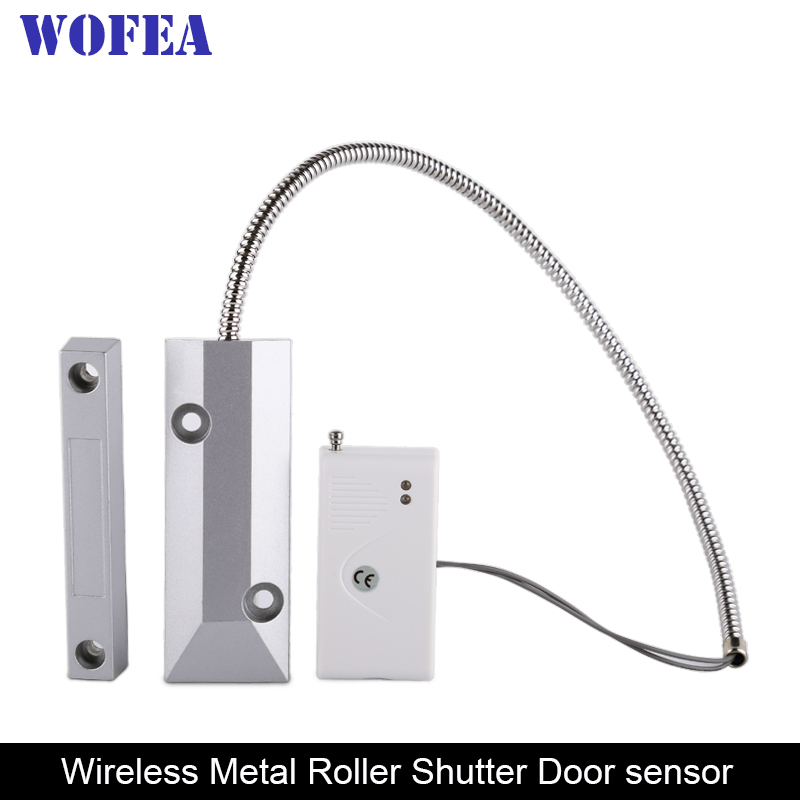 Wofea Wireless Roller Shutter Door Sensor Garage Gates Magnetic Door Window Detector 433MHz