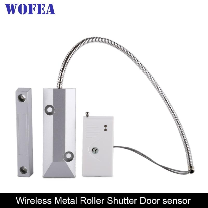 Wofea Wireless Roller Shutter Door Sensor Garage Gates Magnetic Door Window Detector 433MHz