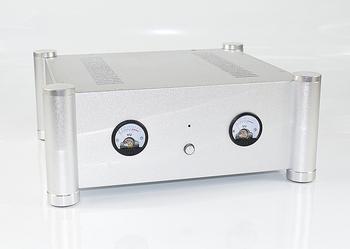 WA126 all aluminum housing preamplifier / headphone amplifier / rear stage chassis case  new level meter VU meter