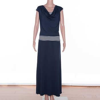 Big size 6XL 2019 Summer Dress Women Casual short sleeve stripe patchwork slim long dresses plus size women clothing 6xl dress