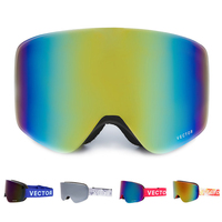 VECTOR Outdoor Double Lenses Skiing Goggles TPU UV400 Anti Fog Skiing Glasses Winter Snowboard Eyewear With