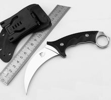 Karambit Knife COLD STEEL Fixed AUS-8 Blade Knife Survival Knives Hunting Tactical Knifes G10 Handle Camping Outdoor Tools K76